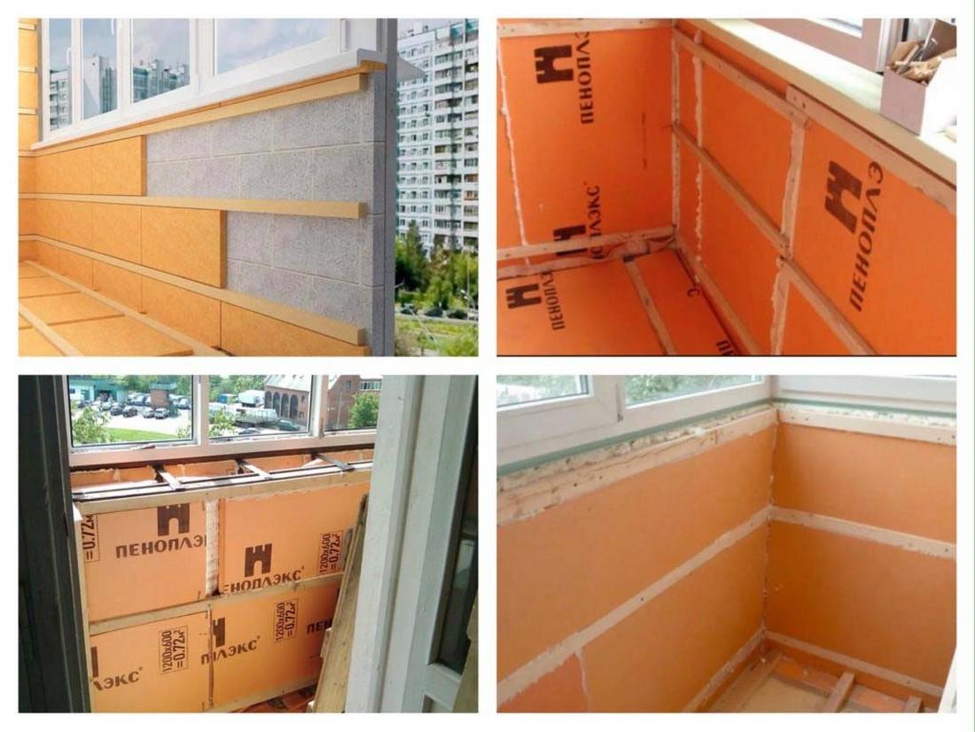 Технология утепления балкона пеноплекса