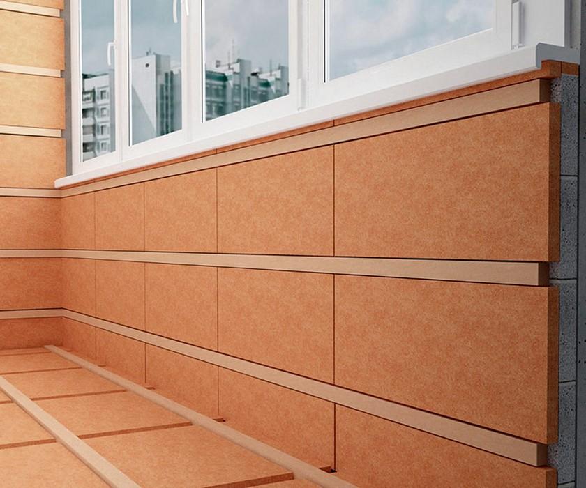 Внутреннее утеплени балкона